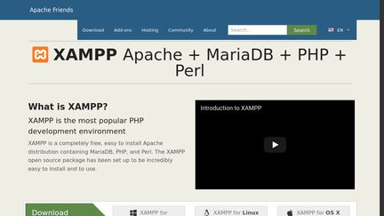 apache friends xampp for windows