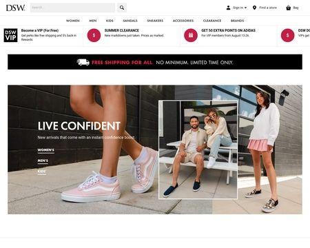 dsw canada online shopping