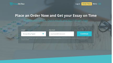 essayontime reviews Check out the most reliable essay writing service essayontime you can decide which writer will create your papers log in order now  good reviews we meet all.