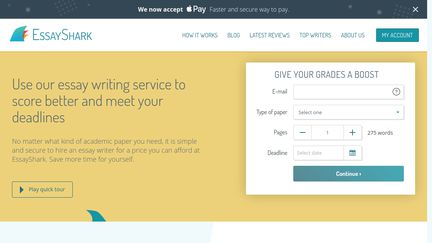 essayshark review Essaysharkcom review - to know more about essay shark reviews benefits, prices, discounts, promo codes, pros or cons learn more about their work here.
