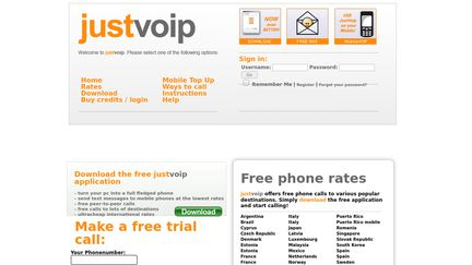 justvoip free