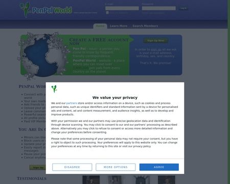 World penpals dating sites