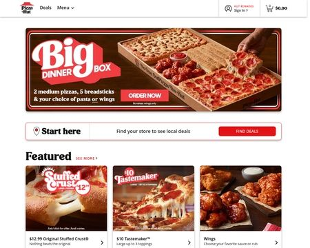 Pizzahut Reviews 78 Reviews Of Pizzahut Com Sitejabber
