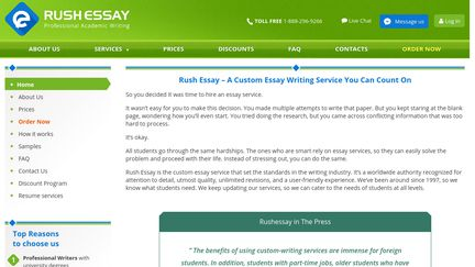 rushessay essay The most popular types of content requested from custom-writing services are essays, research papers, and ma thesis.