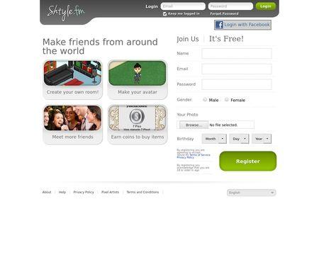 shtyle.fm log in