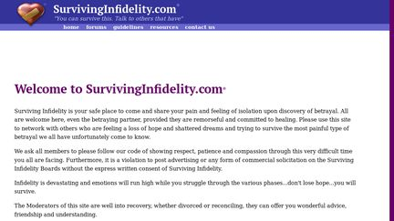 Surviving infidelity forum