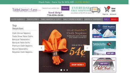TableLinensForLess Reviews   3 Reviews Of Tablelinensforless.com |  Sitejabber