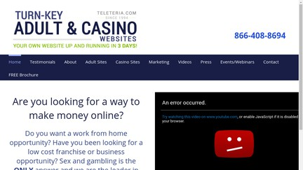 Adult business opportunity site web