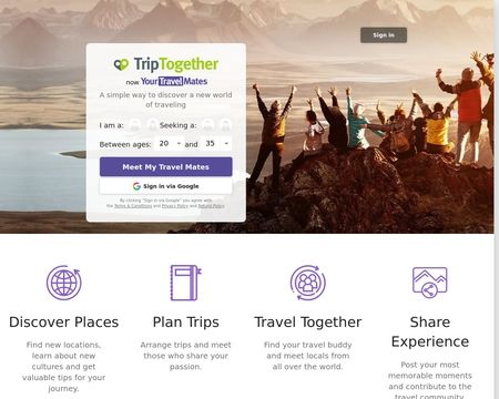 TourBar - Dating site for travelers
